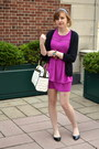 Black-cmendel-shoes-magenta-h-m-dress-white-betsey-johnson-bag