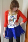 Blue-h-m-skirt-ruby-red-forever-21-cardigan-white-h-m-top