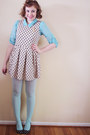 Aquamarine-mine-blouse-cream-sans-souci-dress-aquamarine-h-m-tights