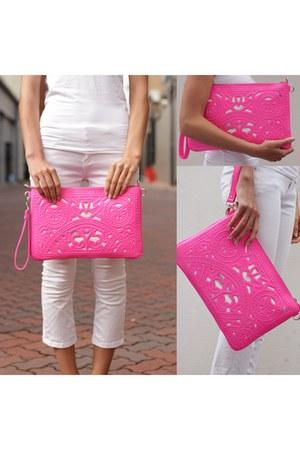 pink clutch Trendabelle bag