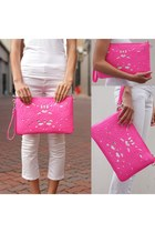 pink clutch Trendabelle bag