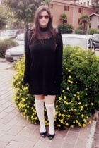 rayban sunglasses - H&M top - H&M dress - max&co sweater - H&M socks - shoes