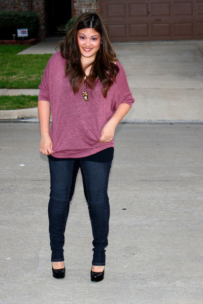 black Kelsi Dagger shoes - black Macys leggings - salmon Agaci blouse - black Fo
