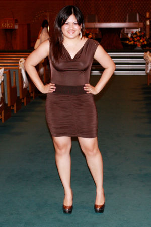 brown Kouture By Kimora Lee dress - silver Steve Madden shoes - silver Forever 2