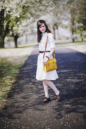 mustard messenger madewell bag - dark brown oxford Wanted shoes