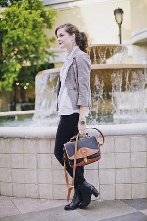 Dooney & Bourke bag - chelsea tba boots - black skinny American Eagle jeans