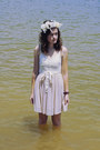 Off-white-ballet-american-eagle-dress-white-floral-crown-diy-hat