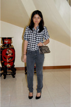moms top - Mango jeans - robinsons dep store shoes