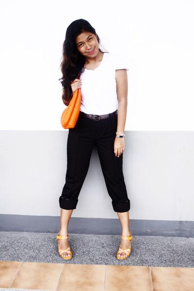Dorothy Perkins blouse - Basilier pants - Bottega Veneta purse - Aerosloes shoes