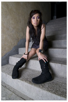 dress - bracelet - accessories - boots