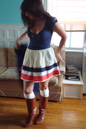 Urban Outfitters shirt - Topshop skirt - forever 21 socks - vintage shoes