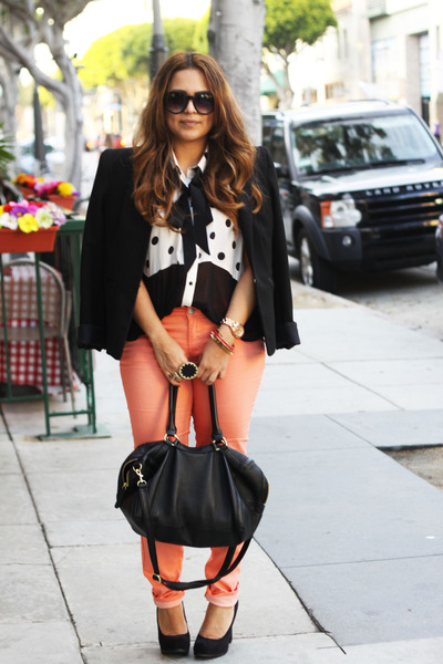 Forever 21 pants - Target shoes - Zara blazer - H&M bag - Forever 21 blouse
