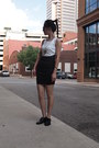 Black-franco-sarto-shoes-ivory-forever-21-dress-ruby-red-vintage-purse