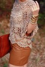 Tawny-envelope-asos-bag-light-brown-crochet-lulus-top-brown-leather-urban-ou