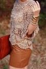 Tawny-envelope-asos-bag-light-brown-crochet-lulus-top-brown-leather-urban-ou