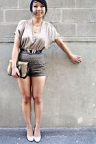 beige Forever 21 blouse
