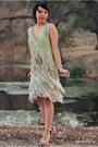 Lime-green-vintage-replica-dress-tan-thriftedvintage-coat-beige-forever-21-h