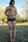 Beige-urban-outfitters-blazer-blue-forever-21-shorts