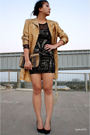gold vintage blazer