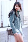 Light-blue-suede-asos-jacket-light-brown-fringe-rebecca-minkoff-bag-sky-blue