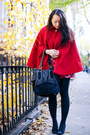 Red-wool-american-apparel-cape