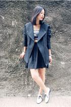black Monki jacket - black Monki bra - black Monki skirt