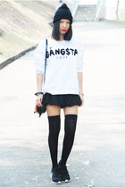 black 31 Phillip Lim bag - black Ezzentric Topz shorts - black nike sneakers