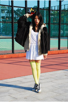neutral American Apparel hoodie - white American Apparel dress