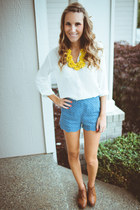 rire boutique shorts - Yes Walker wedges