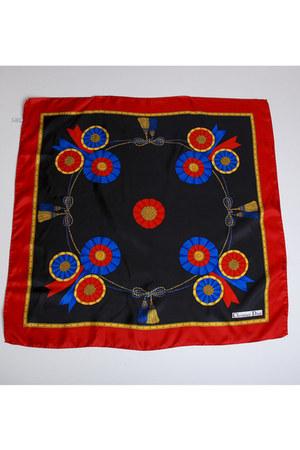red Vintage Christian Dior scarf