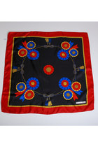 Red-vintage-christian-dior-scarf