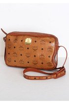 Vintage MCM Brown Monogram Shoulder Bag