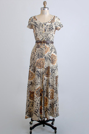light brown vintage dress