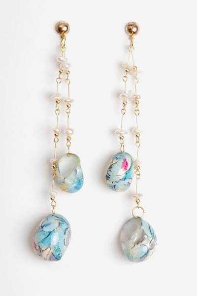 sky blue vintage earrings