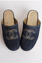 Navy-chanel-clogs