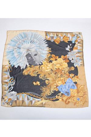 black Vintage Leonard Paris scarf