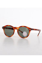 Brown Round Plastic Vintage Sunglasses
