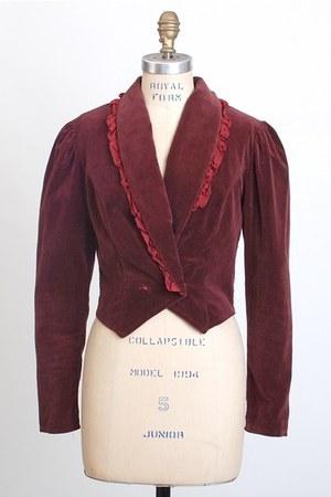 maroon vintage jacket
