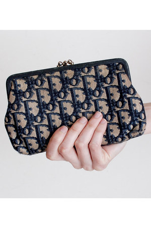 blue Vintage Christian Dior purse