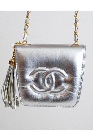 silver vintage chanel bag