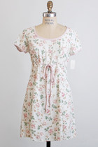 Vintage 90s Grunge Revival Pink Rose Floral Mini Dress