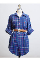 Vintage 90s Blue Check Print Plaid Ralph Lauren Shirt