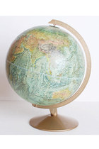 Vintage 60s Mid Century Replogle World Globe High Relief 12""