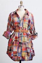 Vintage 90s Plaid Patchwork Ralph Lauren Shirt