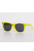 Vintage 90s Yellow & Black Speckle Sunglasses