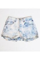 Vintage 90s Levis Acid Wash Denim Shorts Waist 28""
