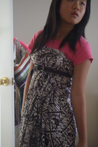 vintage dress - American Apparel t-shirt - American Eagle belt