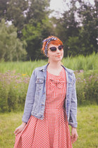 handmade dress - vintage jacket - Chicwish sunglasses