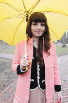 salmon Anthropologie coat