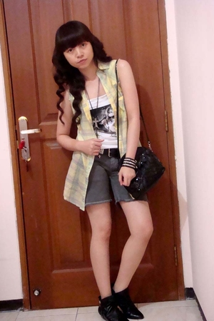 Mango top - Zara shirt - Zara pants - Zara boots - forever 21 bracelet